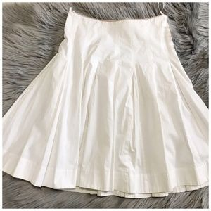 REISS off white soft pleated skirt size 10